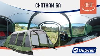 Outwell Chatham 6A Air Tent  - 360 video (2019)