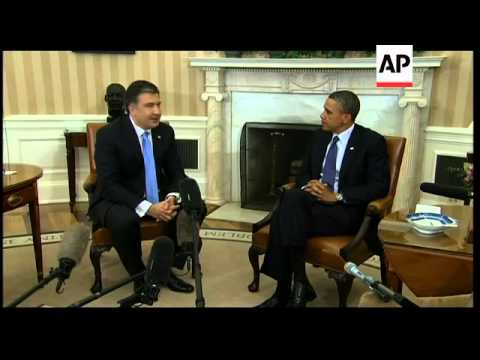 President Obama discusses free trade with Georgia President Saakashvili
