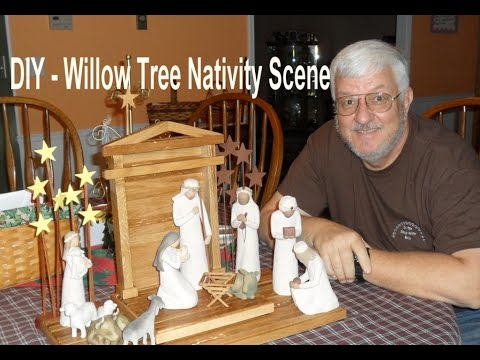 Diy willow tree nativity scene youtube solutioingenieria Image collections