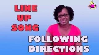 following directions line up song littlestorybug