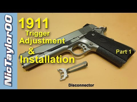 1911 Pistol Trigger Adjustment for Overtravel and Pretravel - PART 1