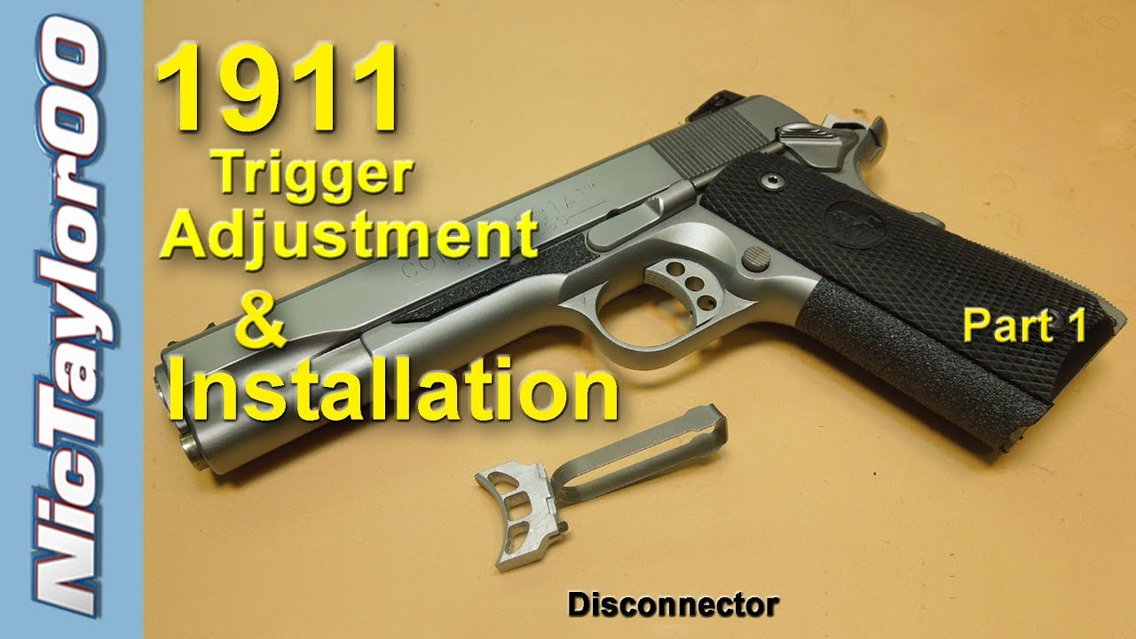 1911 Pistol Trigger Adjustment for Overtravel and Pretravel - PART 1