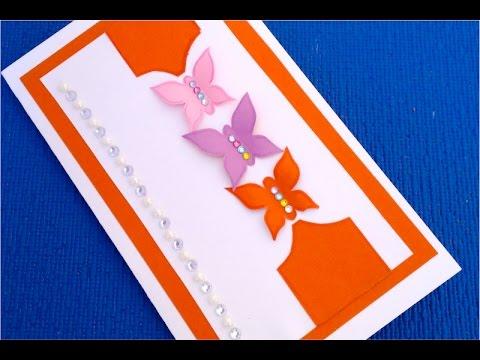видео: diy.♥ Как быстро и просто сделать открытку ♥на День Рождения своими руками♥