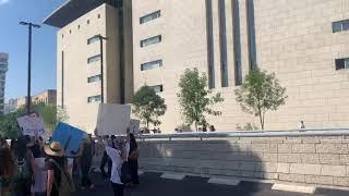 מחאת העובדים הסוציאליים מאות מפגינים. المئات في مظاهرة العمال الاجتماعيين
