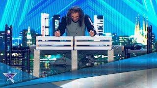 Puede ROMPER bloques de CEMENTO con HUEVOS en las manos! | Audiciones 7 | Got Talent España 5 (2019)