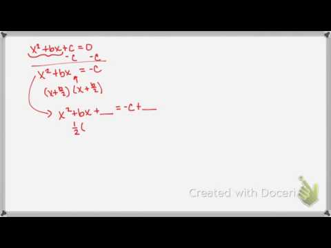 6.3 Completing The Square general video notes