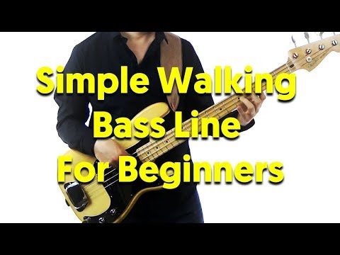 Simple Walking Bass Line For Jazz Beginners (Autumn Leaves)