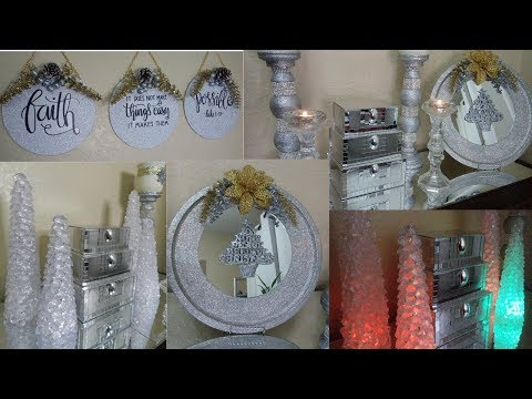Dollar Tree DIY Glam Christmas Home Decor 2019| 4 Dollar Tree DIY Glam High End Christmas Decor