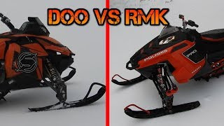 Polaris VS Skidoo - Rc Snowmobile Competition
