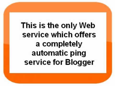 blogger ping