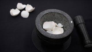 卵殻チョーク、そして葱坊主紹興酒塩麹だれ 【ART & LIFE #1】