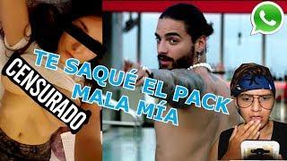 BROMA a mi EX NOVIA con LETRA DE CANCION MALA MIA de MALUMA  | ME PASO SU P4CK