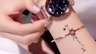 Montre femme en metal bracelet magnétique aimanté DIAMOND de chez Karl Mongier