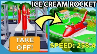 Spending 20 Trillion Dollars To Get The Rocket Ship in Roblox Ice Cream Van Simulator