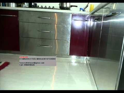 Stainless Steel Acrylic Modular Kitchens Thrissur Kozhikode Call 9400490326 Youtube