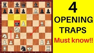 4 Opening Traps Every Chess Player Should Know!