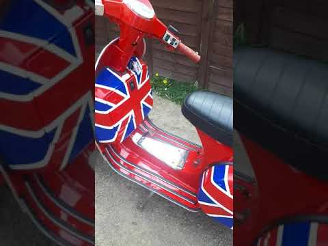 Vespa Scooter  I Just Finished Painting For A Customer