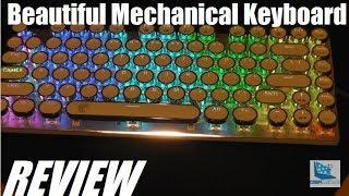 REVIEW: E-Element Retro Mechanical Keyboard - Typewriter Keys!