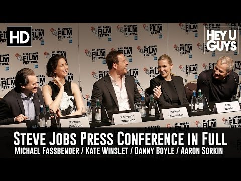 'Steve Jobs' Movie Press Conference in Full - Michael Fassbender / Kate Winslet  / Sorkin / Boyle