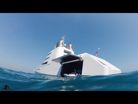SuperYacht A SF99 anchored in Antibes