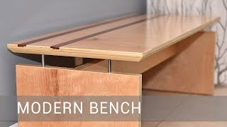Modern Bench With A FLOATING TOP