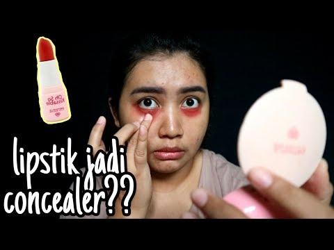 lipstik-merah-penutup-kantung-mata!!-|-beauty-hacks