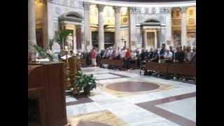 Sing Live USA Pantheon Mass Rome