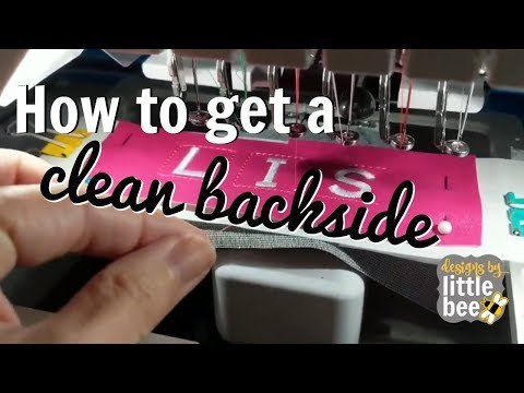How to get a clean backside.. for in-the-hoop machine embroidery, that is!
