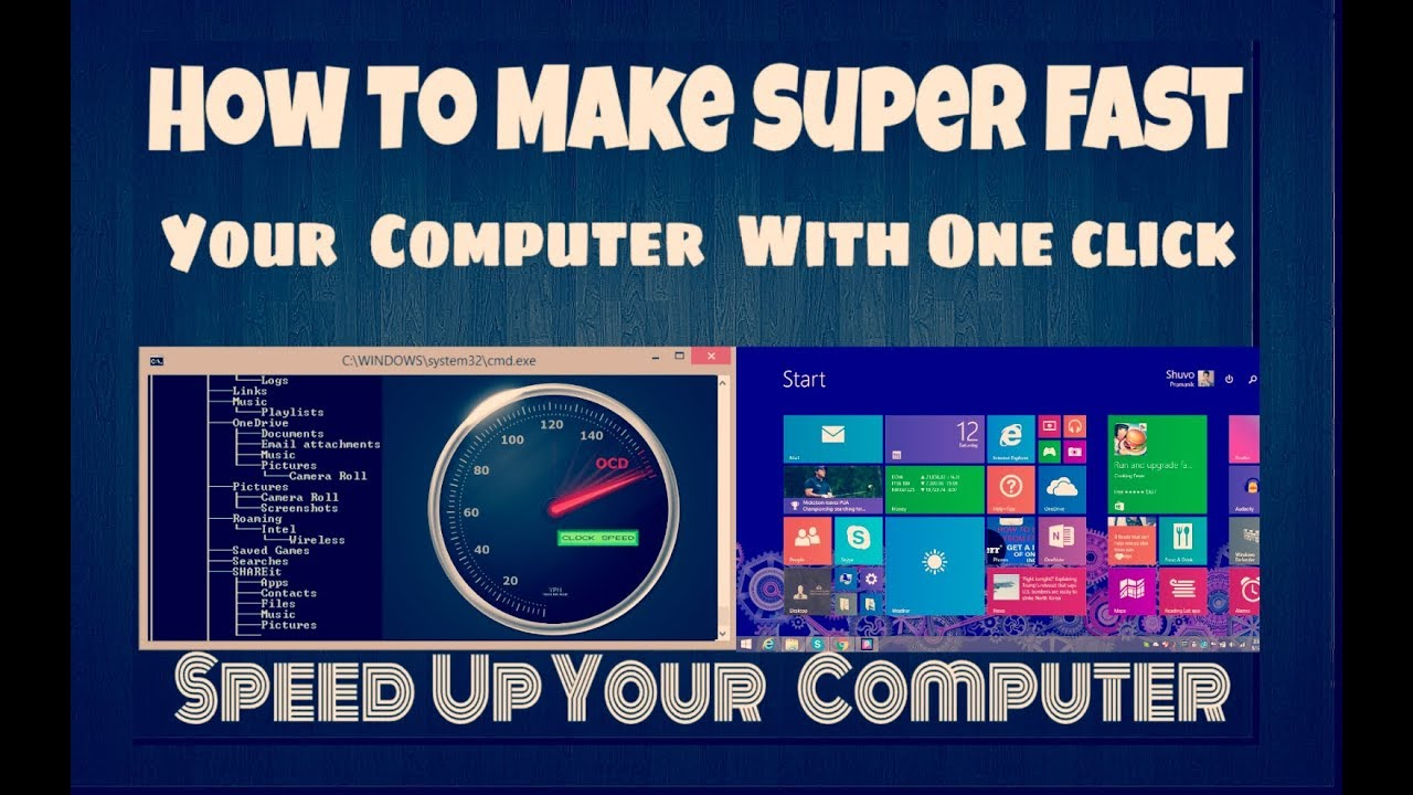 How to make your PC/Laptop Run Faster    how to speed up your pc With ONE Click - YouTube