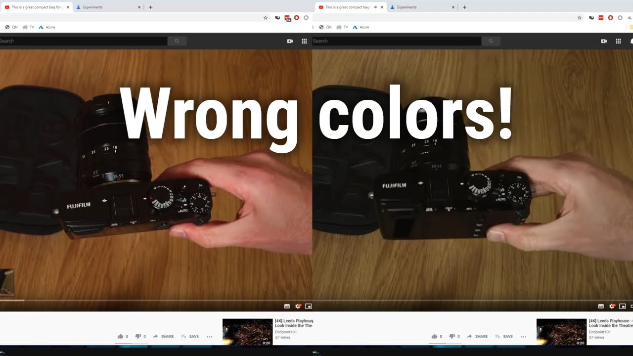 Download How to fix YouTube videos playing with the wrong colours. Settings in Chrome make them look too red!