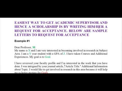 Part 1 how to request an acceptance letter from a professor youtube part 1 how to request an acceptance letter from a professor spiritdancerdesigns Gallery