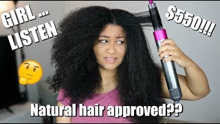 SOOOO I TRIED THE DYSON AIRWRAP ON MY THICK NATURAL HAIR...