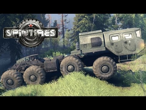 SPINTIRES 2014 - The Flood Map - E 7310 8x8 Truck Off Road Driving