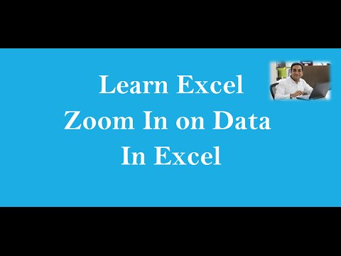 Zoom In Zoom Out Of Data In Excel