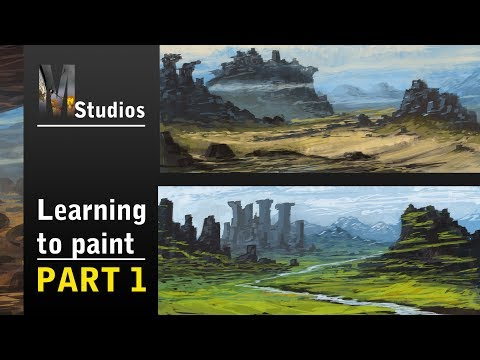 Learning How To Paint – Part 1: Fantasy Landscapes – Rough Painting