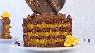 Шоколадно-Апельсиновый торт Брауни