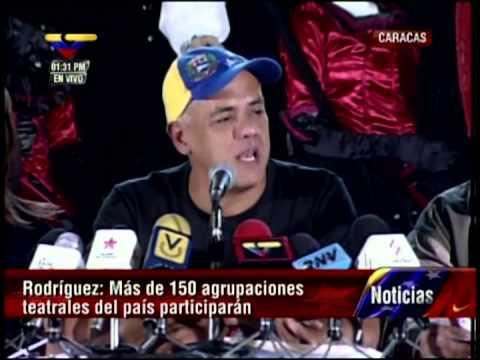 Jorge Rodríguez anuncia el Festival de Teatro de Caracas, que comienza este 22 de febrero