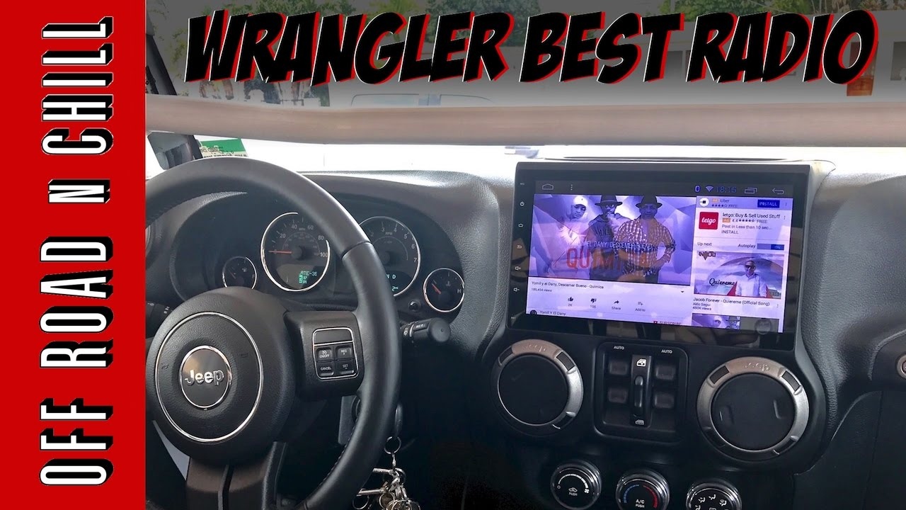 best jeep wrangler radio 10 1 inch screen youtube. Black Bedroom Furniture Sets. Home Design Ideas