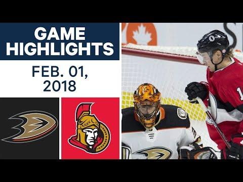 NHL Game Highlights | Ducks vs. Senators – Feb. 1, 2018