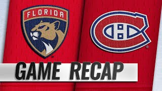 Dadonov, McCann score twice in 5-2 win against Habs