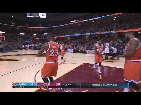 LeBron James Pokes Fun at DeAndre Liggins Travel | January 29, 2017 | 2016-17 NBA Season