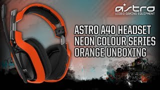 Astro Gaming A40 Headset - Neon Colour Series Orange [Unboxing] @ASTROGaming