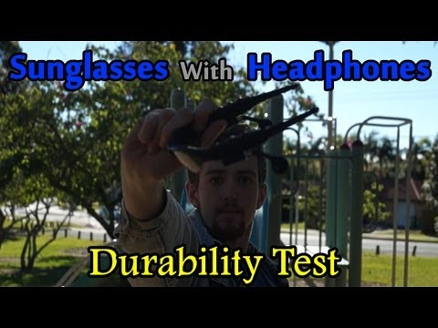 Bluetooth Sunglasses With Headphones Review & Park Durability Test