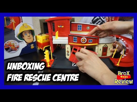 Fireman Sam Fire Rescue Centre unboxing & Brox playtime.