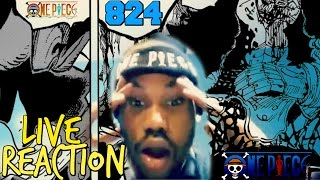 One Piece ワンピース Manga Chapter 824 Live Reaction | Little Pirate Games! | Kaido Is Savage!!!!