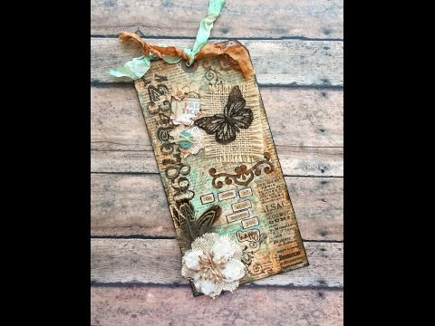 Vintage-style Mixed Media Tag
