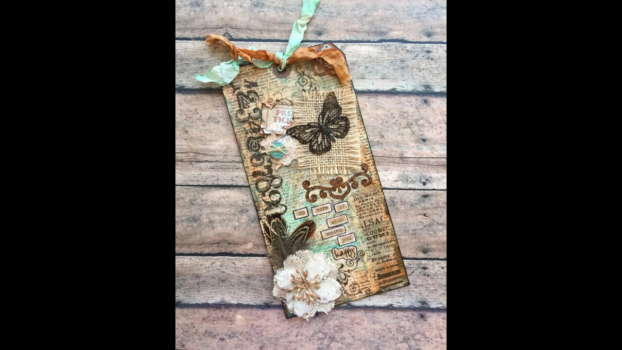 Vintagestyle Mixed Media Tag  YouTube