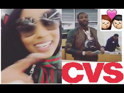 Nicki Minaj buying Condoms at WALMART oops we mean Regular Day at CVS