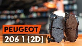Montaż Zestaw klocków hamulcowych przednie i tylne PEUGEOT 206: instrukcje wideo