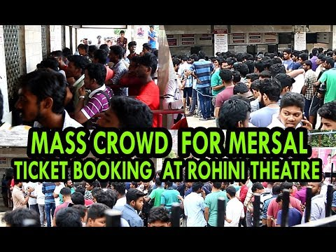 Mass Crowd at Rohini Theatre to Book Tickets for MERSAL | Mersal Celebrations Starts - BB